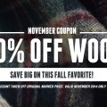 Save on Wool with November's Coupon of the Month!