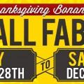 40% Off Fabrics! 11/28-12/6