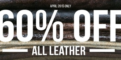 April's Coupon of the Month | 60% Off Leathers!