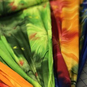 New Tie Dye Rayon Challis!